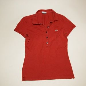 Lacoste womens top polo shirt size 36